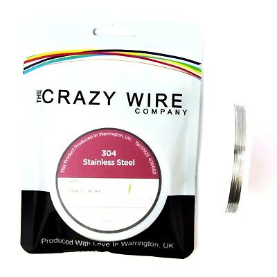 32 AWG (0.2mm) SS304 Stainless Steel Wire by The Crazy Wire Company