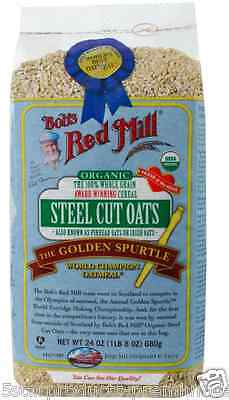New Bob's Red Mill Organic Steel Cut Oats Whole Grain Dietary Fiber Vitamin Care