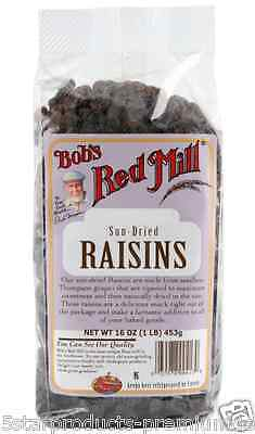 New Bob's Red Mill Sun Dried Raisins Natural Fruit Body Healthy Daily Food Taste