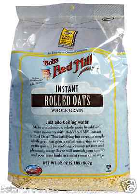 New Bob's Red Mill Instant Rolled Oats Whole Grain Cereal Breakfast Oatsmeal