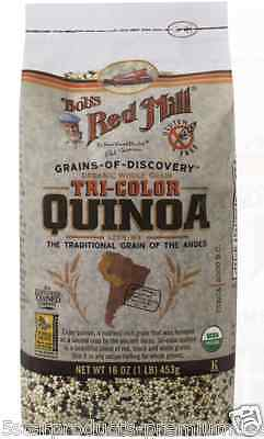 New Bob's Red Mill Organic Whole Grain Tri-Color Quinoa Gluten Free Nuts Seeds
