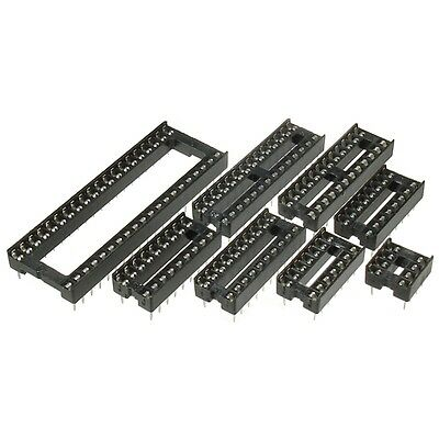 "PCB Low Profile IC Socket DIL 6-8-14-16-18-20-24-28-32-40 Pin Way 0.3"" 0.6"" Wide"
