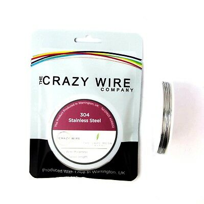22 AWG (0.6mm) SS304 Stainless Steel Wire by The Crazy Wire Company