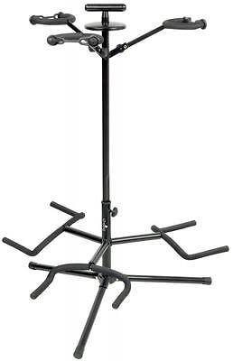 Chord 180.304 Height Adjustable Triple Guitar Stand with Neck Support - New