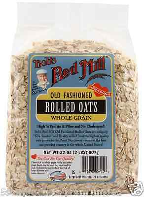 New Bob's Red Mill Old Fashioned Rolled Oats Whole Grain Cereals Breakfast Food