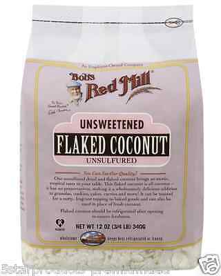 New Bob's Red Mill Flaked Coconut Unsweetened Dried Fruit Whole Natural Grocerie