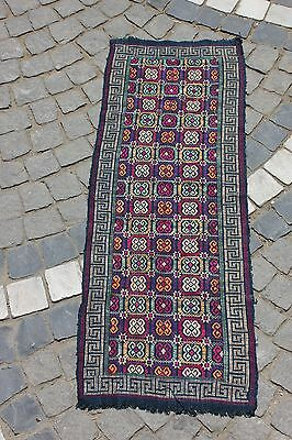Antique Original Perfect Balkan Cotton Silk Handmade Textile