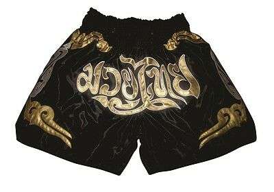 Muay Thai Shorts neustes Design,Thai- Kickbox Pants 100%Satin Top Qualität, Gr.L