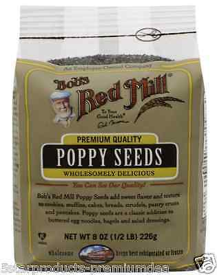 New Bob's Red Mill Poppy Seeds Pure Unaltered Organic Natural Baking Whole Food