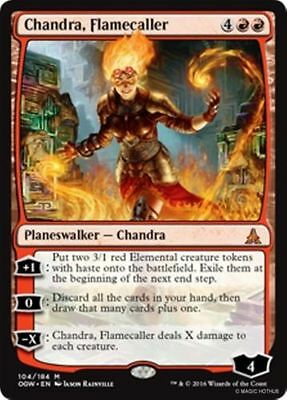 MTG NM/M Chandra, Flamecaller Oath of the Gatewatch Red Planeswalker Mythic Rare