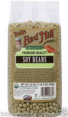 New Bob's Red Mill Organic Soy Beans Gluten Free Vegetable Protein Vitamin Food