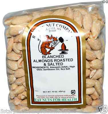 New Bergin Fruit And Nut Company Blanched Almonds Roasted & Salted Kosher Foods