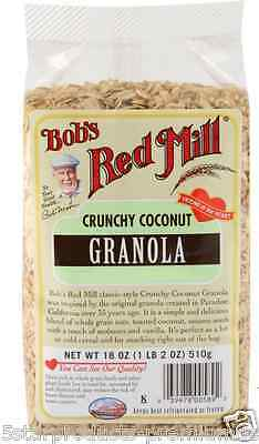 New Bob's Red Mill Crunchy Coconut Granola Crerals Breakfast Foods Whole Grain