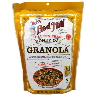 New Bob's Red Mill Honey Oat Granola Crerals Breakfast Foods Gluten Free Lunch