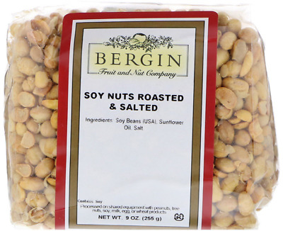 New Bergin Fruit And Nut Company Soynuts Roasted & Salted Nutrition Foods Health