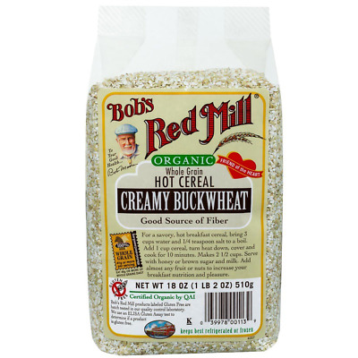 New Bob's Red Mill Organic Whole Grain Buckwheat Cereal Breakfast Food Snacks
