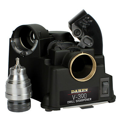"Darex V390 Drill Bit Sharpener 1/8-3/4"" Capacity"