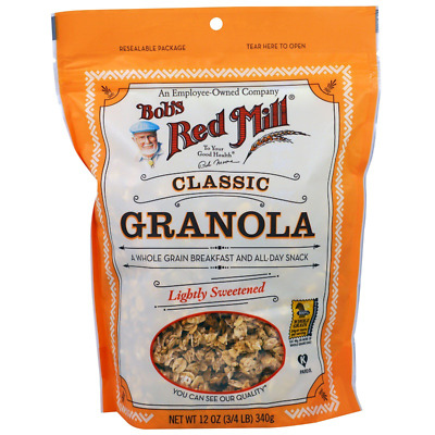 New Bob's Red Mill Granola Natural Whole Grain No Fat Cereal Breakfast Lunch