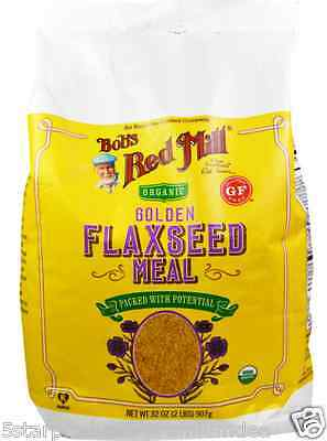 New Bob's Red Mill Organic Golden Flaxseed Meal Gluten Free Flour Mixes Daily