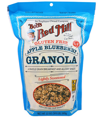 New Bob's Red Mill Gluten Free Granola Apple Blueberry Wheat Free Fiber Healthy