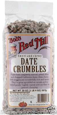 New Bob's Red Mill Date Crumbles Fiber Sweet Dietary Dried Fruit Food Groceries