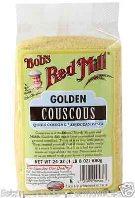 New Bob's Red Mill Golden Couscous Quick Cooking Grains Lunch Daily Healthy Food