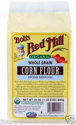 New Bob's Red Mill Organic Whole Grain Corn Flour Bread Low Fat Cholesterol Care
