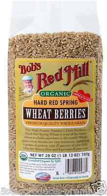 New Bob's Red Mill Organic Hard Red Spring Wheat Berries Whole Grain Protein