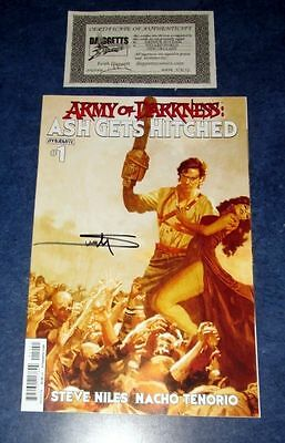 ARMY OF DARKNESS ASH GETS HITCHED #1 signed variant ARTHUR SUYDAM DYNAMITE COMIC