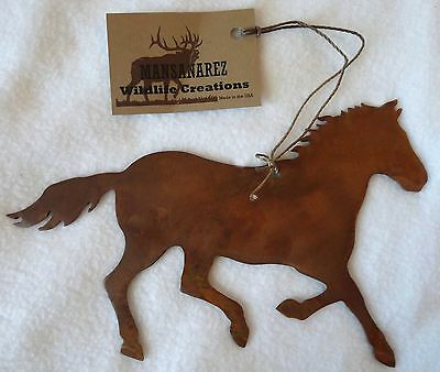 NEW Copper Metal Horse Wildlife Western Christmas Ornament Decoration