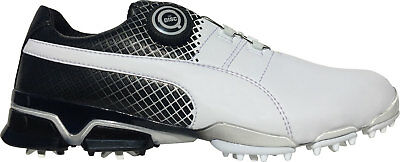 Puma Titan Tour Ignite Disc 189383-02 White/Black Mens 2016 New - Choose Size!