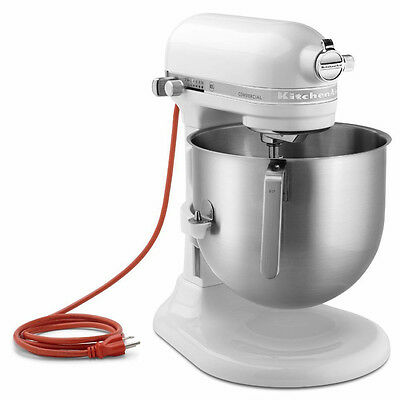KitchenAid Commercial 8-Qt Bowl Lift NSF Stand Mixer RKSM8990WH 1.3HP White