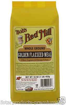 New Bob's Red Mill Golden Flaxseed Meal Fiber Lignans Omega-3 Fats Gluten Free