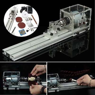 DC 24V Mini Lathe Beads Machine Polisher Table Saw Drill Bits for DIY Wood Lathe