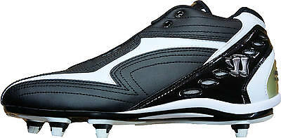 Warrior by New Balance Burn Detach Mid Lacrosse Cleats ~ Black/White