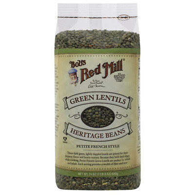 New Bob's Red Mill Green Lentils Beans Food Groceries Healthy Fiber Iron Protein