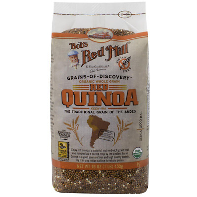 New Bob's Red Mill Organic Whole Grain Red Quinoa Gluten Free Nuts Seeds Food