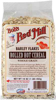 New Bob's Red Mill Rolled Hot Cereal Barley Flakes Whole Grain Breakfast Foods