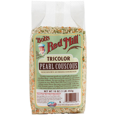 New Bob's Red Mill Tricolor Péarl Couscous Natural Nuts Food Groceries Lunch
