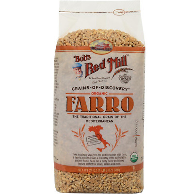 New Bob's Red Mill Organic Farro Food Cooking Lunch Dinner Daily Health Body
