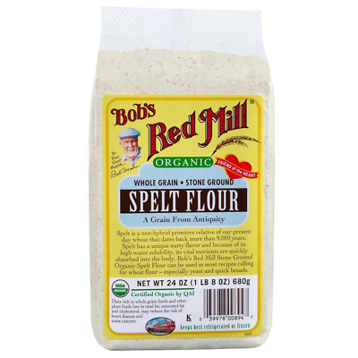 New Bob's Red Mill Organic Spelt Flour Whole Grain Mixes Protein Baking Cooking