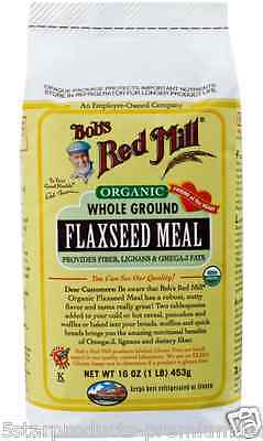 New Bob's Red Mill Organic Whole Ground Flaxseed Meal Gluten Free Flour & Mixes