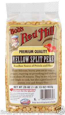 New Bob's Red Mill Yellow Split Peas Protein & Fiber Natural Beans Food Lunch