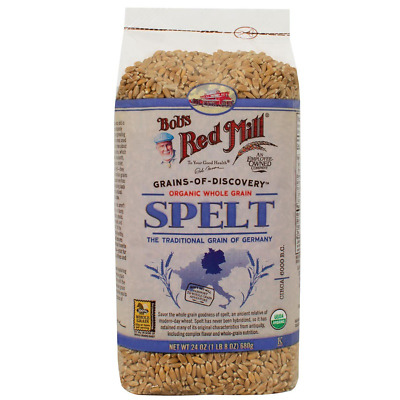 New Bob's Red Mill Organic Whole Grain Spelt Cereals Breakfast Foods Fiber Care
