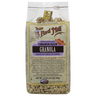 New Bob's Red Mill Granola Cinnamon Raisin Whole Grain Cereal Breakfast Daily