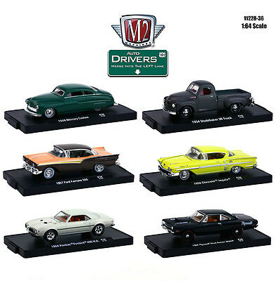 Drivers 6 Cars Set Release 36 In Blister Pack 1/64 By M2 Machines 11228-36