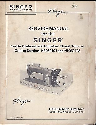 Singer Service Manual + Parts List Booklet for the Model NP050101 and NP050103
