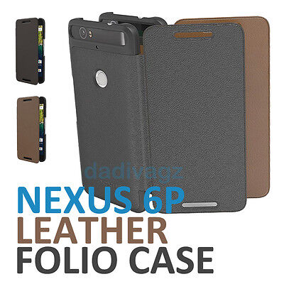 Genuine Official Huawei Google Nexus 6P Folio Case Leather Flannel Flip Cover
