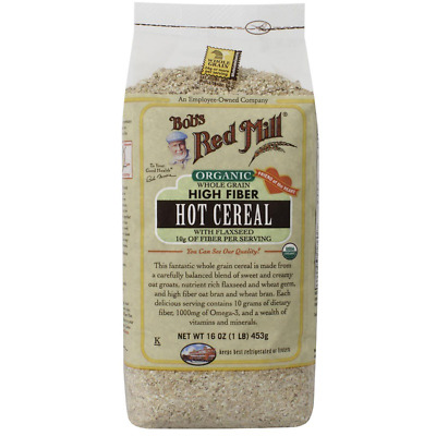 New Bob's Red Mill Organic Whole Grain High Fiber Hot Cereal Flaxseed Breakfast