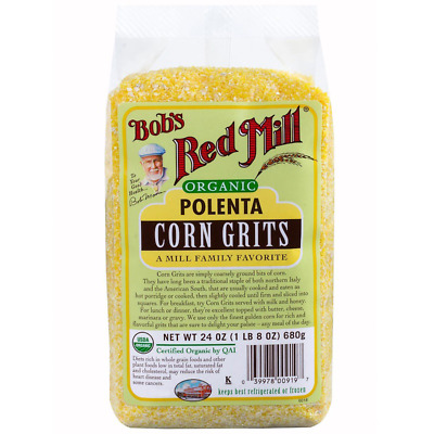 New Bob's Red Mill Organic Polenta Corn Grits Cooking Cereals & Breakfast Lunch